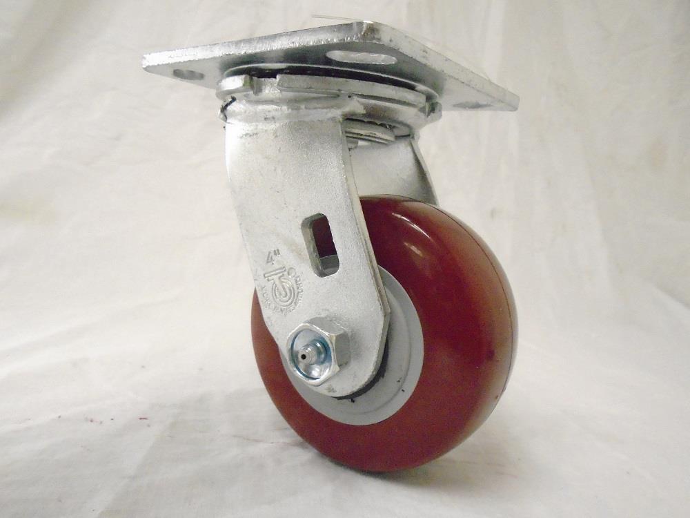 "4"" x 2"" Swivel Caster Polyurethane Wheel (2) & Rigid (2) 500 lbs each Tool Box"