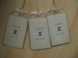 Hilton Luggage Tags - Repurposed Hotel Vintage Playing Cards Name Tags S... - $19.79