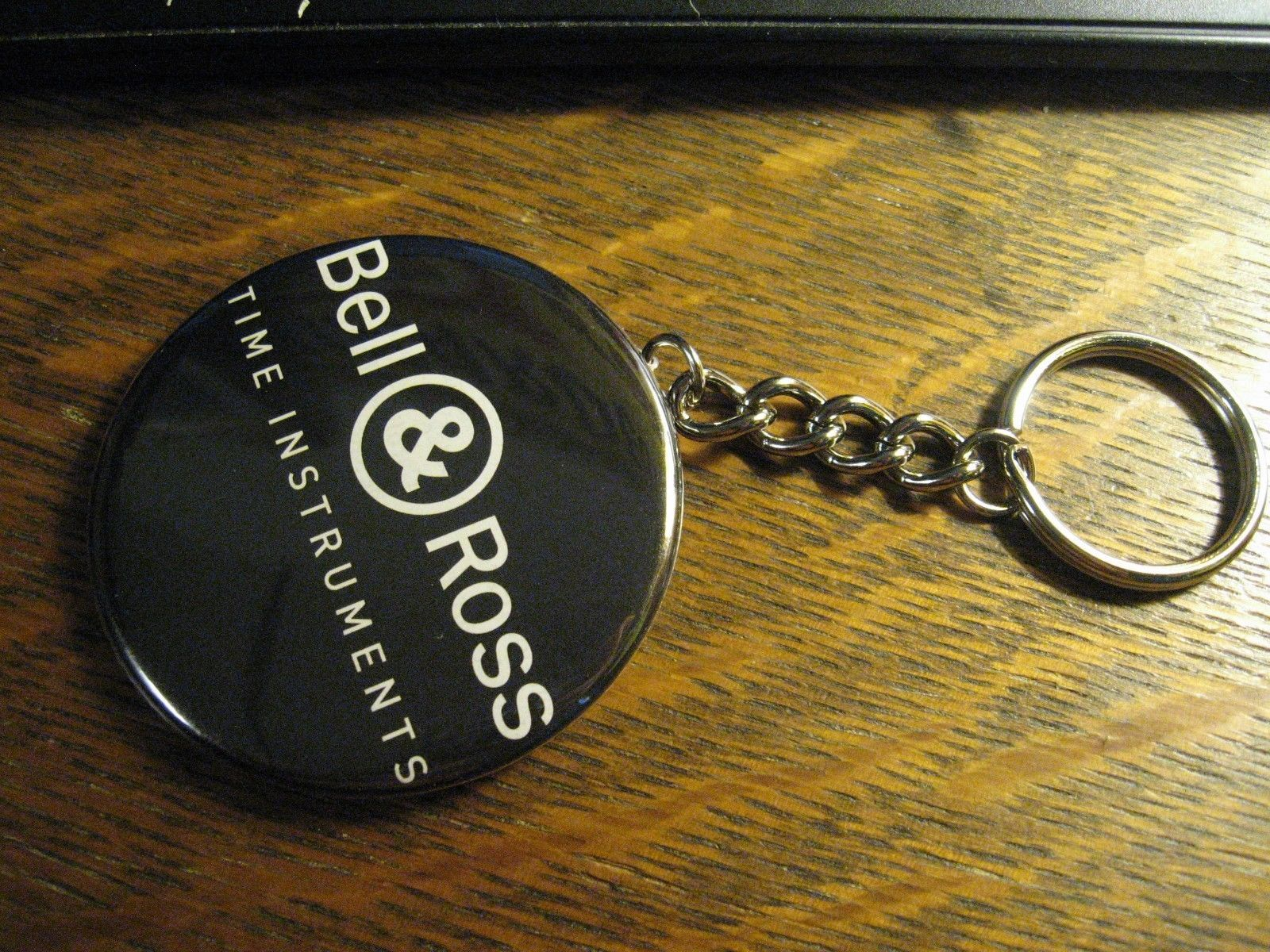 Bell & Ross Logo Keychain - Repurposed Magazine Ad Backpack Purse Clip Ornament