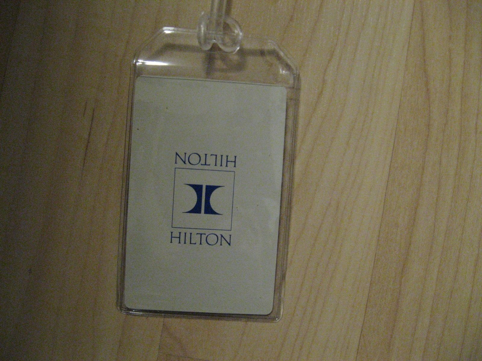 Hilton Luggage Tags - Repurposed Hotel Vintage Playing Cards Name Tags Set (3)
