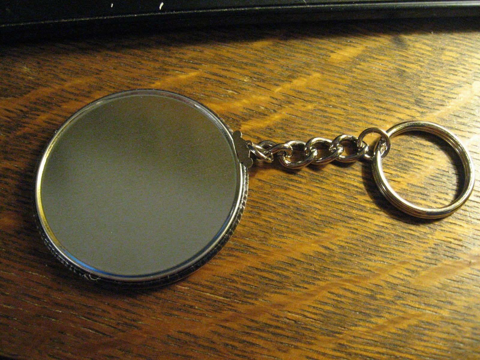 Bulova Watch Logo Keychain - Repurposed Magazine Ad Backpack Purse Clip Ornament