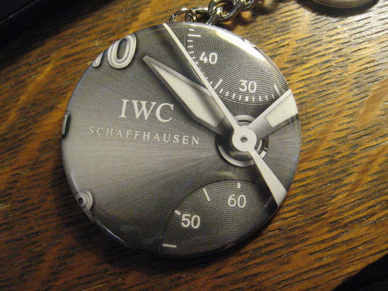 IWC Schaffhausen Keychain - Repurposed Magazine Ad Backpack Purse Clip Ornament