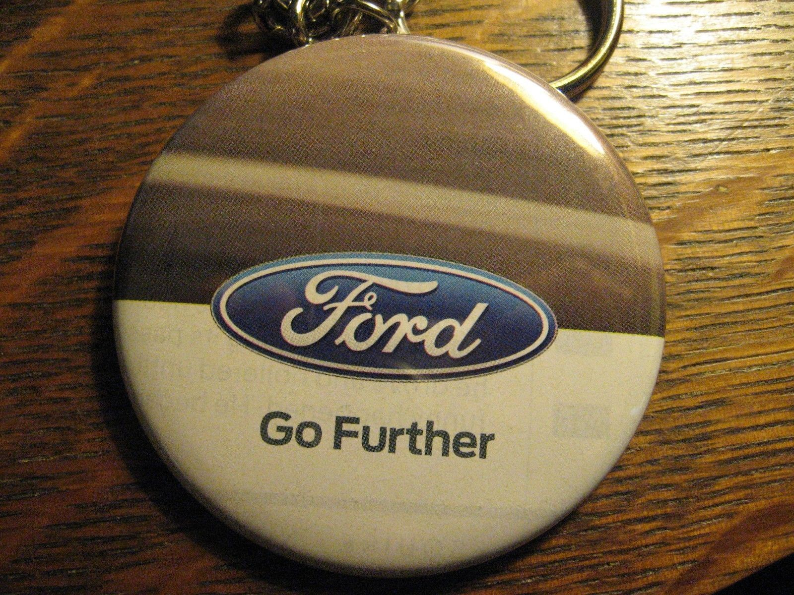 Ford Motor Keychain - Repurposed Magazine Truck Ad Backpack Purse Clip Ornament