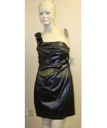 NEW WOMENS JUNIORS JRs SIZE 11 BLACK SILVER FAUX LEATHER METALLIC 1 STRA... - $9.74