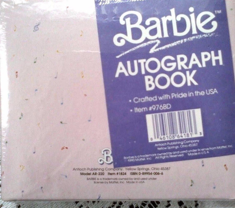 Barbie Autograph Book Mattel Vintage Diary Graduation Collectible Gift 90's Rare