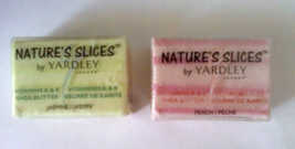 Nature's Slices by Yardley Vitamins A & E Jasmine and Peach Shea Butter Soap - $11.95