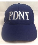 FDNY Embroidered Logo Baseball/Trucker Hat/Cap, Velcro Adjustable, Blue/... - $8.99