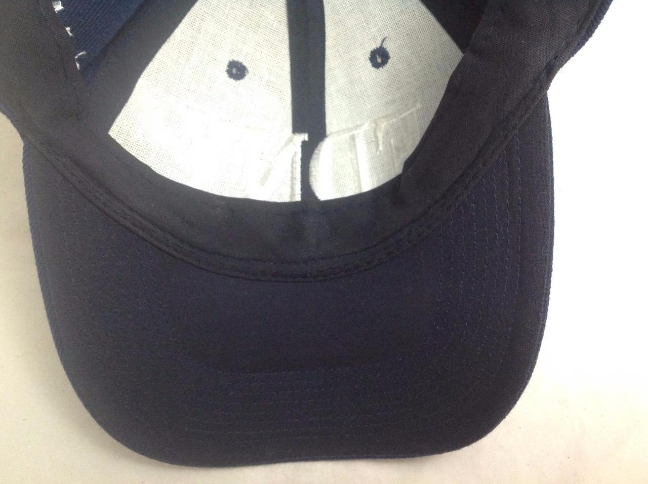 FDNY Embroidered Logo Baseball/Trucker Hat/Cap, Velcro Adjustable, Blue/White