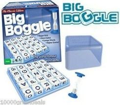 Big Boggle Quick Word Game Classic Edition Letter Grid w/ 25 Cubes, Cove... - $26.83