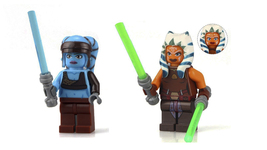 set Aayla Secura Ahsoka Tano Star Wars Minifigures Custom Minifig Buildi... - $6.99
