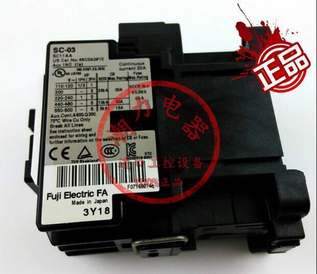 Original Fuji AC contactor SC-03 110V 220V 380V 2 month warranty