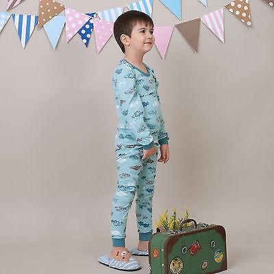 2Pcs Toddler Kids Boys Clothes Long Sleepwear Pajamas Set 12M-14T [Retro Car]