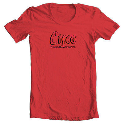 Cisco T shirt Bum Wine retro 70's vintage 100% cotton graphic print tee shirt