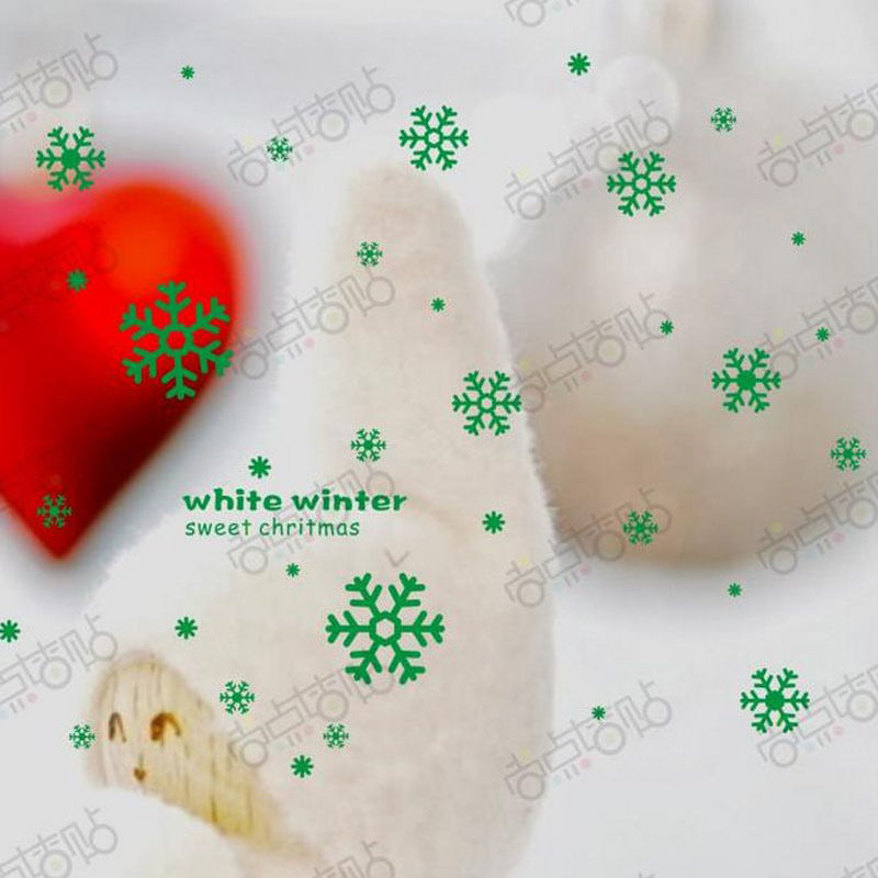 NEW Christmas Decals Wall Sticker Window Shop Mural Removable Gift Sales 245TS5