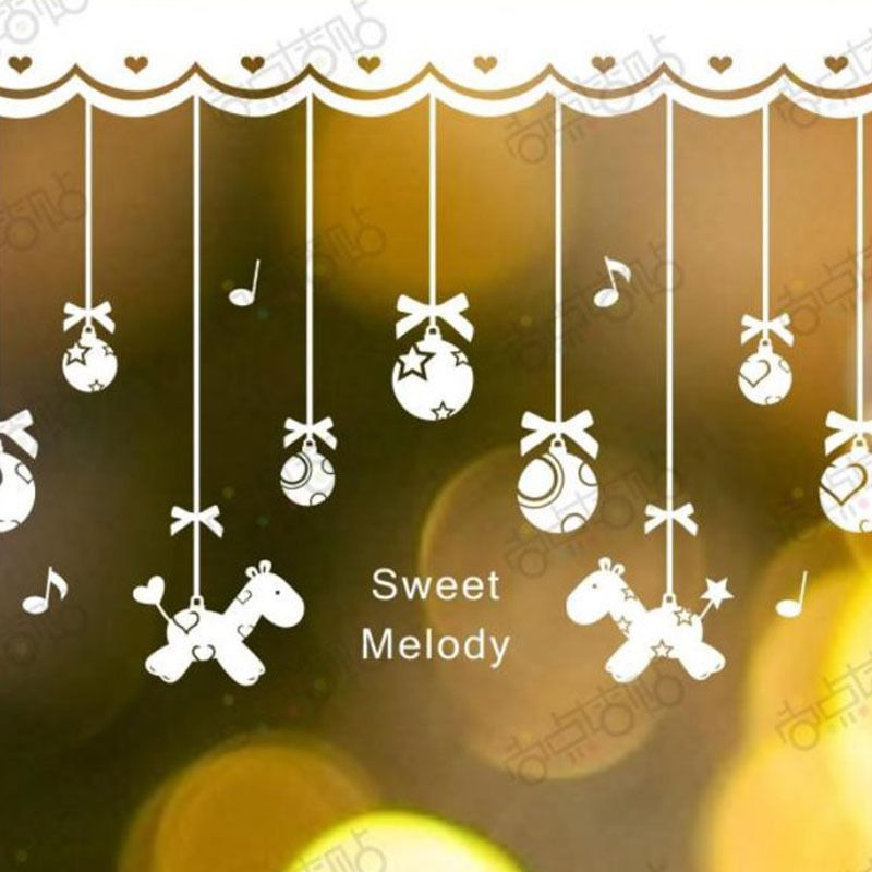 NEW Christmas Decals Wall Sticker Window Shop Mural Removable Gift Sales 244TR6