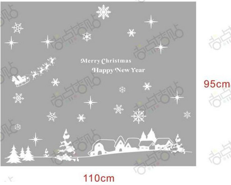 NEW Christmas Decals Wall Sticker Window Shop Mural Removable Gift Sales 238TL2