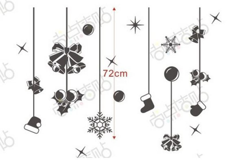 NEW Christmas Decals Wall Sticker Window Shop Mural Removable Gift Sales 251TY9