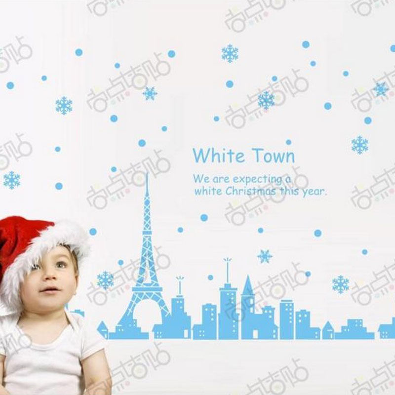 NEW Christmas Decals Wall Sticker Window Shop Mural Removable Gift Sales 239TM1
