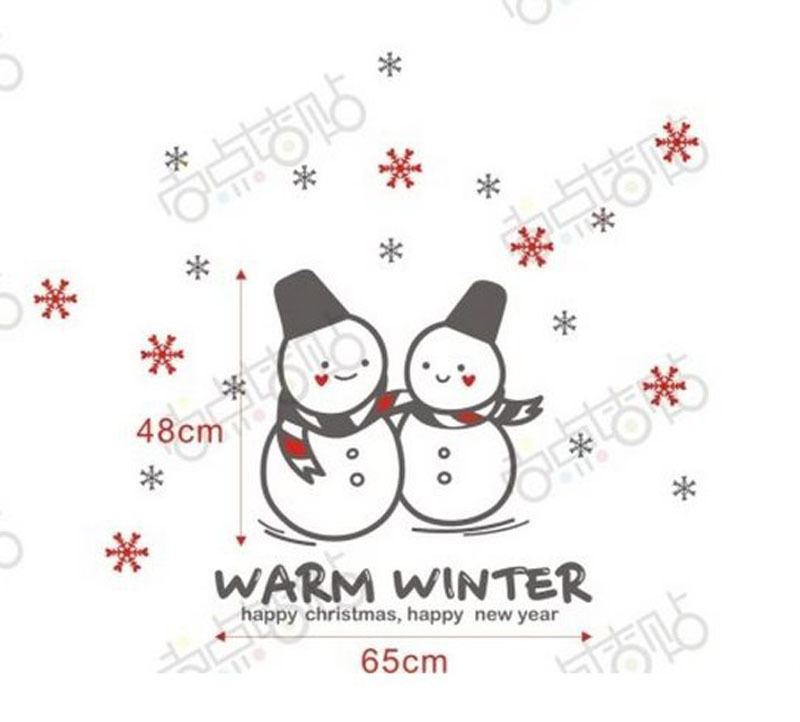 NEW Christmas Decals Wall Sticker Window Shop Mural Removable Gift Sales 253TA7