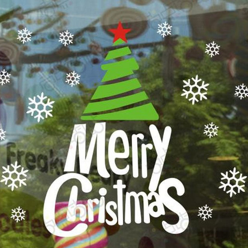 NEW Christmas Decals Wall Sticker Window Shop Mural Removable Gift Sales 241TO9