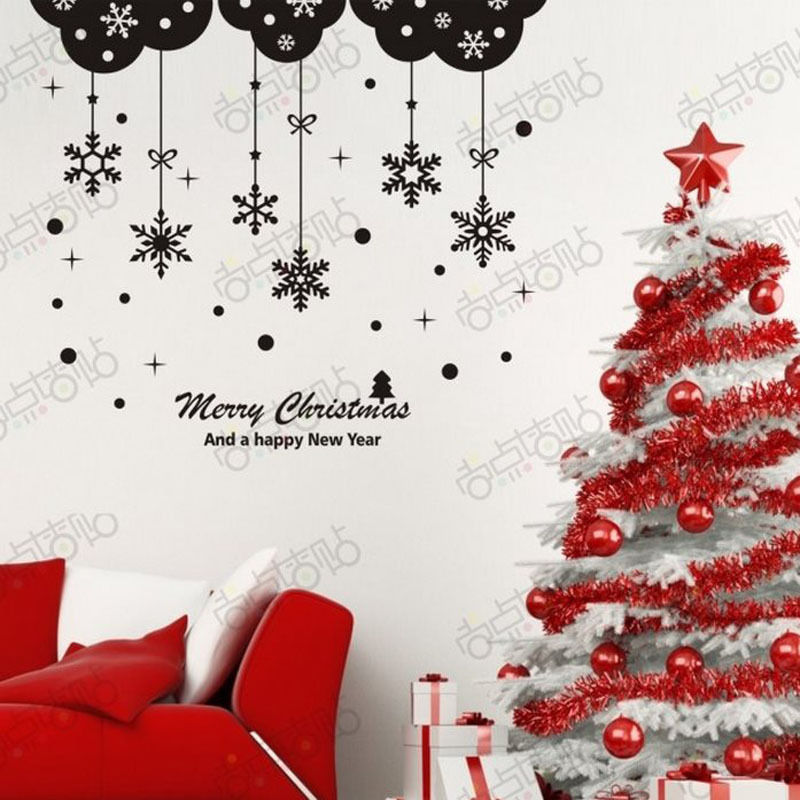 NEW Christmas Decals Wall Sticker Window Shop Mural Removable Gift Sales 250TX0
