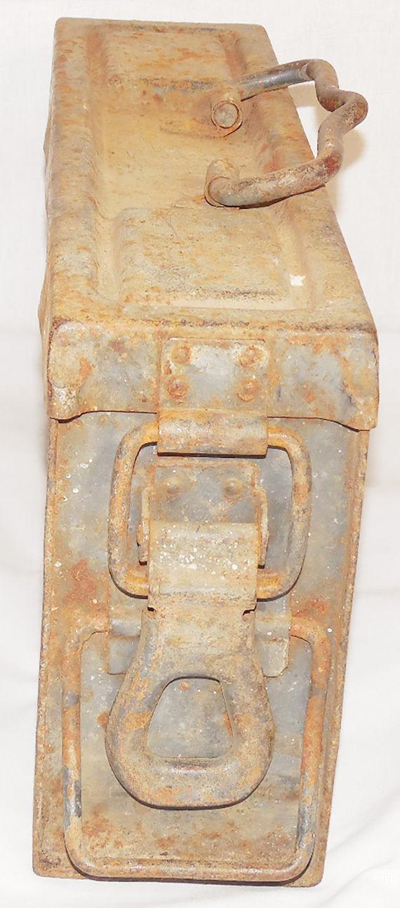 Original Genuine German WW2 Mg34/42 Ammo Metal Container Case Box