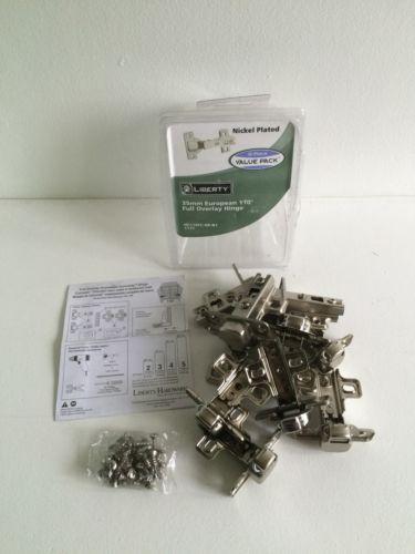 3 in. x 2-1/2 in. 35 mm 110° Nickel-Plated Full Overlay Hinge (10-Pack)