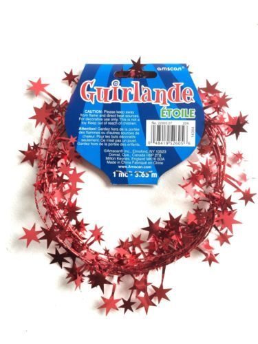 Amscan Red Star Wire Garland 12'