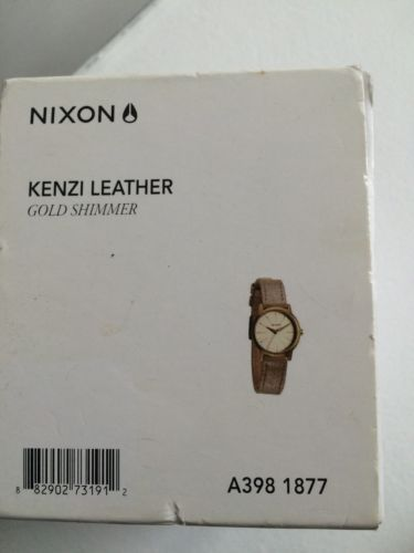 Nixon Women's Kenzi Stainless Steel Watch with Leather Band