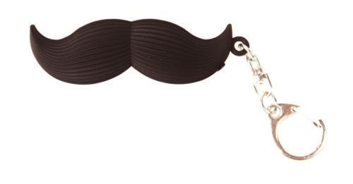 "Talking Mustache Keyring Says ""Well hello there!"" Kikkerland"