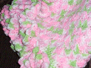 Rose Garden Hand Crocheted Baby Blanket