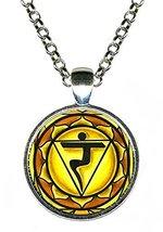 "3rd Chakra Manipura 1"" Circle Silver Pendant - $14.95"