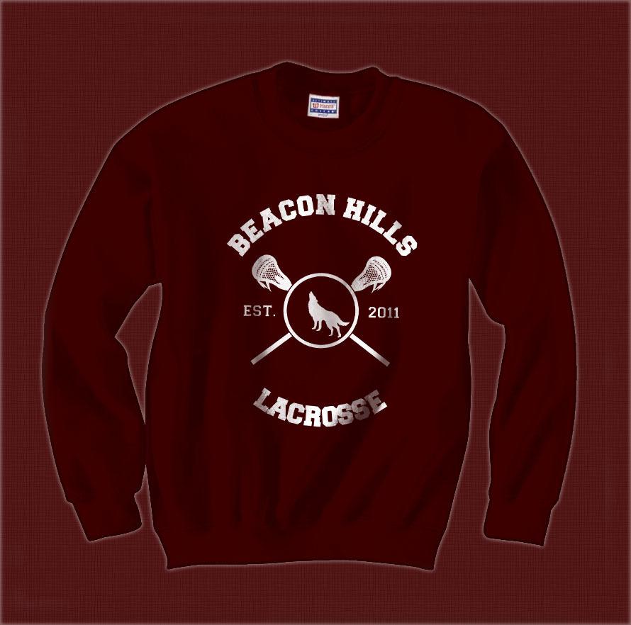 Dunbar 9 Beacon Hills Lacrosse team wolf Unisex Crewneck Sweatshirt