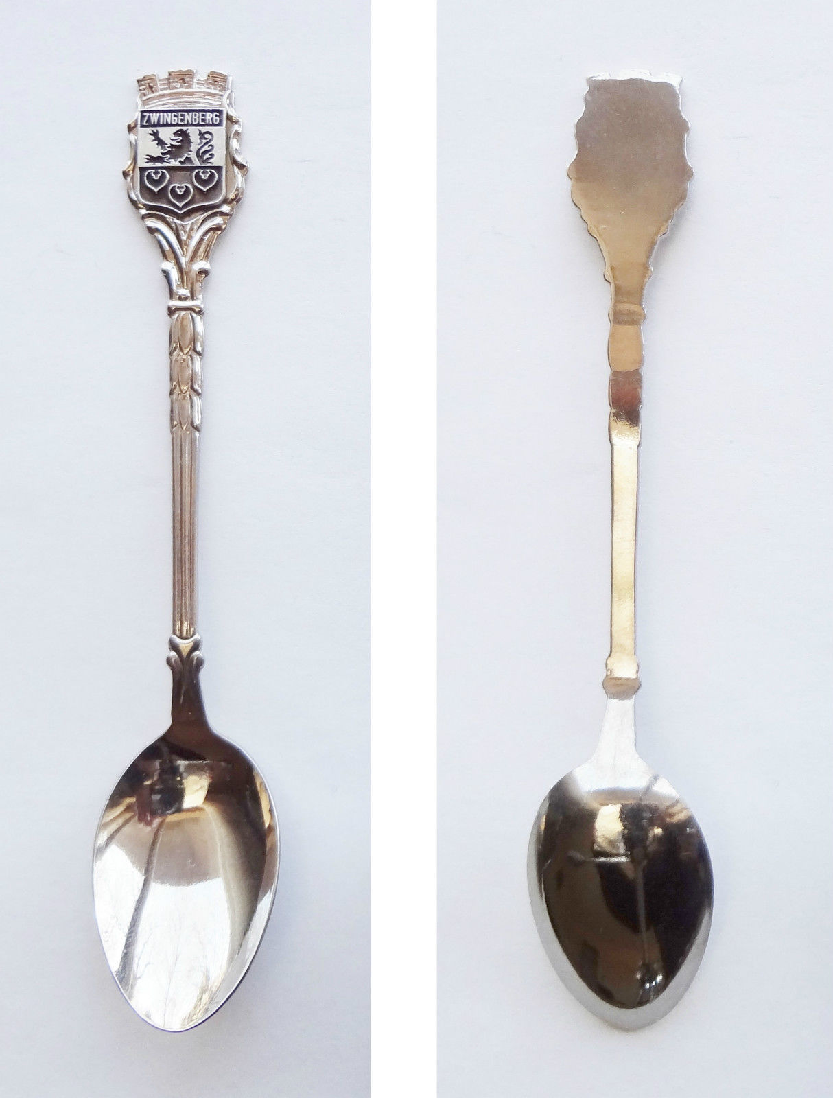 Collector Souvenir Spoon Germany Zwingenberg Hesse Coat of Arms Emblem