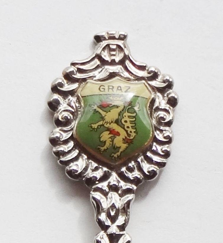 Collector Souvenir Spoon Austria Graz Gratz Coat of Arms Emblem