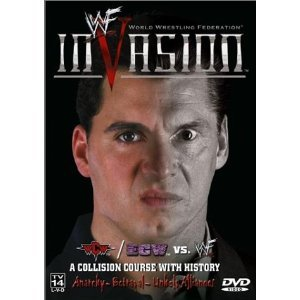 WWF: Invasion 2001 Pre-viewed DVD WWE Jericho Angle Rock Austin oop