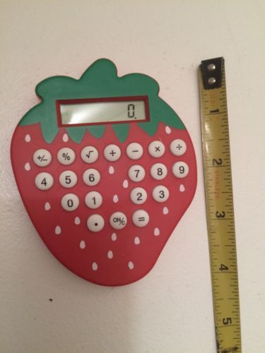 Strawberry Shaped Calculator with White Buttons