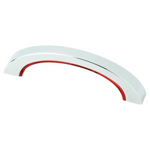 3 in. Chrome and Red Color Pop Cabinet Hardware Pull