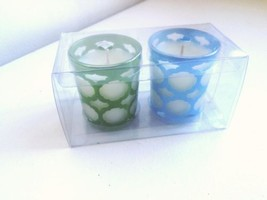 Fresh Linen Votive Candle Duo w Glass Holders - $4.99