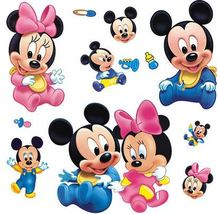Micky Mouse design wall deacl wall decor cartoon wall sticker for child... - $13.00