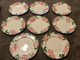 """Set Lot 8 Franciscan Desert Rose Dinner Plates 10.5"""" USA - $94.04"""
