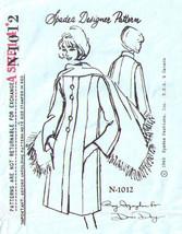 1965 Spadea Designer COAT & STOLE Pattern 1012 - Size 14 - UNCUT - $15.47