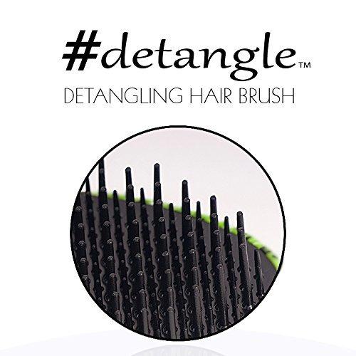 Detangling Hair Brush (Zebralicious) Compact Hair Detangler by RemySoft