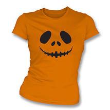 Pumpkin Face Womens Slim Fit T-Shirt - $14.99