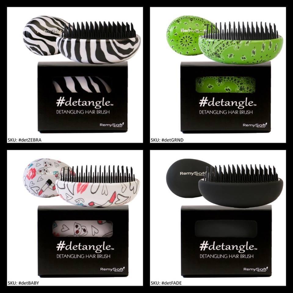 Detangling Hair Brush #detangle (Greendana) Hair Detangler by RemySoft