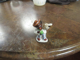 "Occupied Japan Figurine "" Black Boy Playing Violin"" 3"" tall  - $15.00"