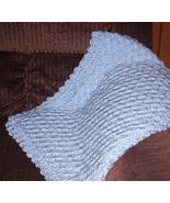 Blue Hand Crocheted Baby Blanket - $40.00