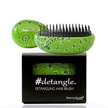 Detangling Hair Brush #detangle (Greendana) Hair Detangler by RemySoft - $14.95