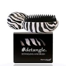 Detangling Hair Brush (Zebralicious) Compact Hair Detangler by RemySoft - $14.95