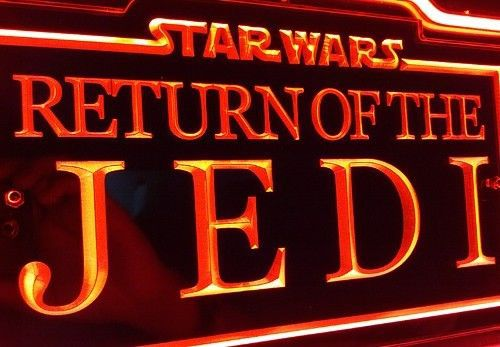 SB227 Star Wars VI 'Return of the Jedi' Movie Display Neon Light 3D Acrylic Sign